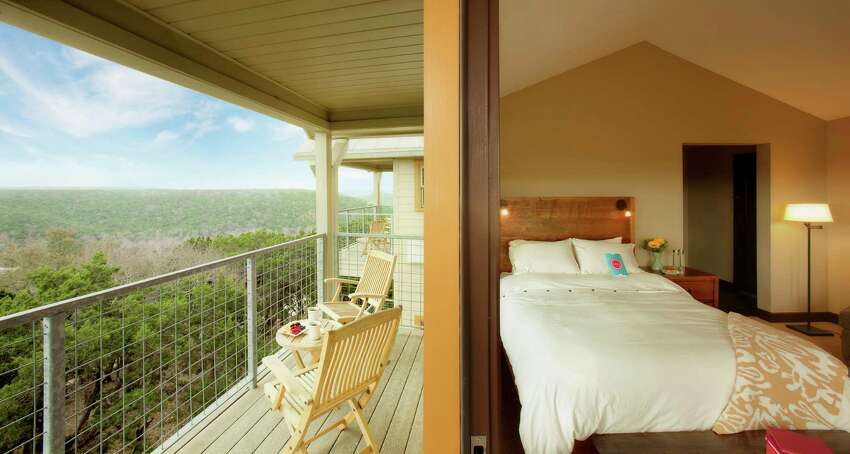 The casitas at Travaasa Austin have balconies that encourage relaxing and enjoying the view when you're not challenging yourself or indulging at the spa or restaurant.