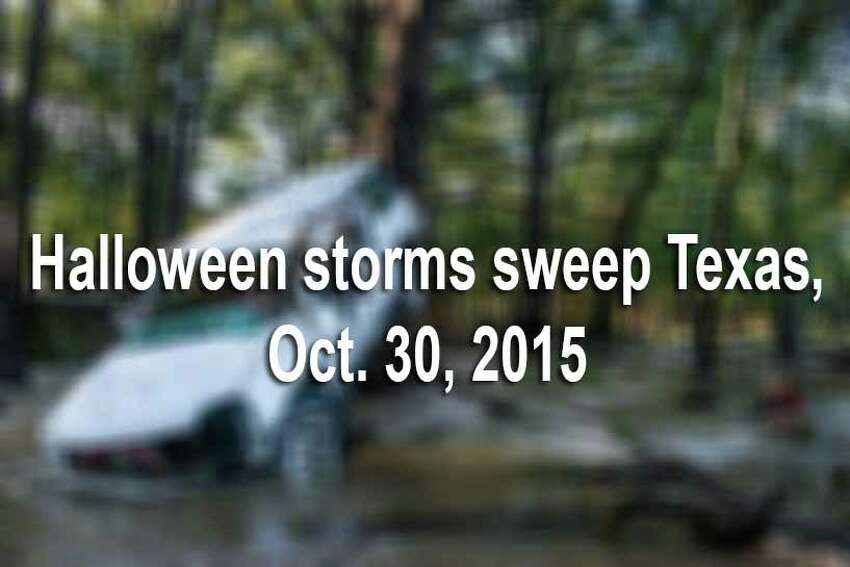 Heavy storms and possible tornadoes shocked Texas ahead of Halloween. Here is a roundup of photos that show the worst damage around Texas.