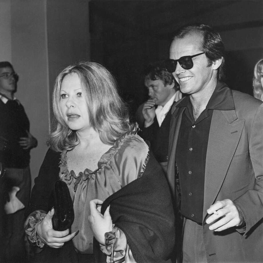 "Hollywood talent agent Sue Mengers and actor Jack Nicholson, whom she represented, attend a screening of ""Black Sunday"" in 1977. Photo: Fotos International / Getty Images / 2014 Fotos International"