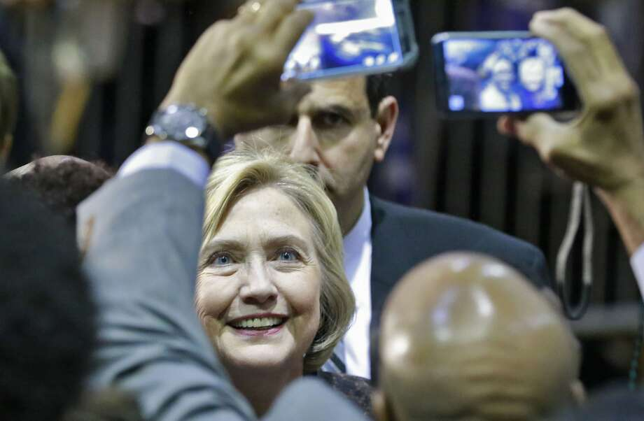 Democratic presidential candidate Hillary Clinton shakes hands, poses for photos, and greets the crowd at the end of her speech at Clark Atlanta University on Friday, Oct. 30, 2015, in Atlanta. Photo: Bob Andres, McClatchy-Tribune News Service
