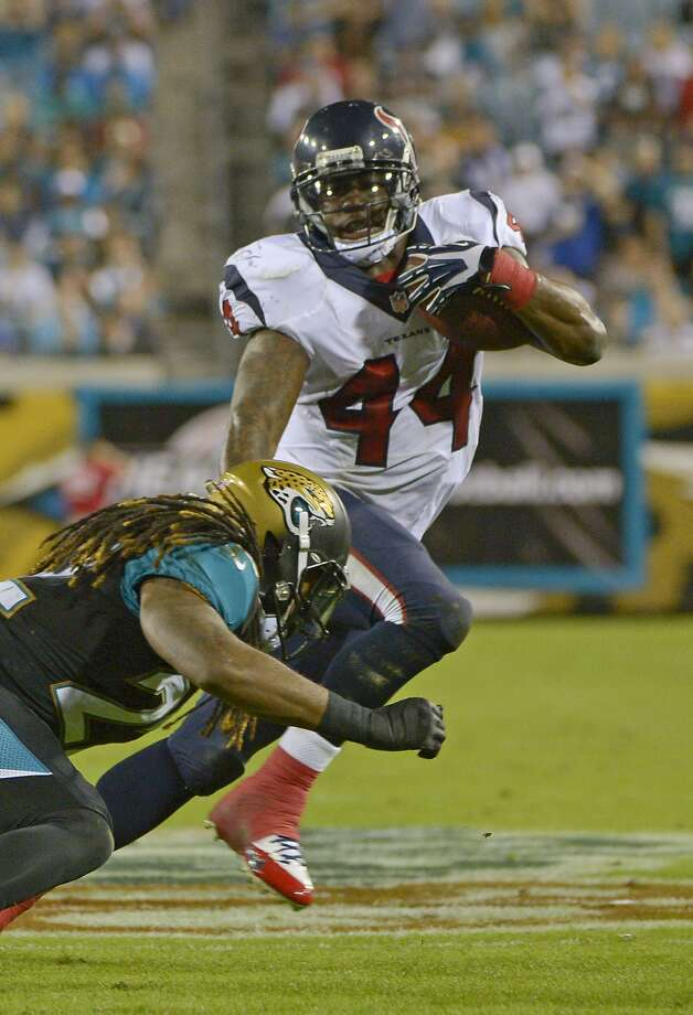 Ben Tate gained nearly 2,000 of his 2,382 career rushing yards as a member of the Texans from 2011-13. Photo: Phelan M. Ebenhack, Associated Press