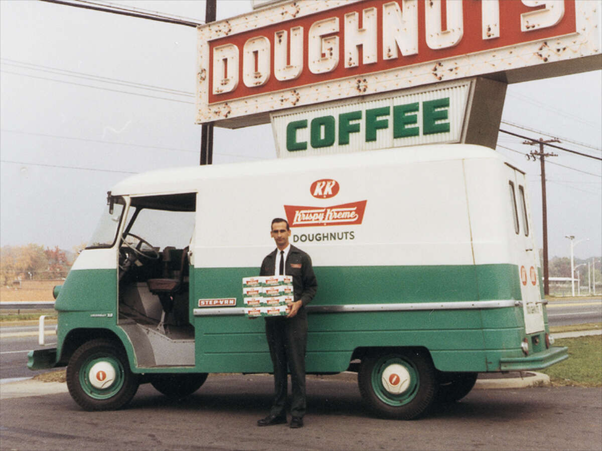 Vintage photos of Krispy Kreme through the years Check out this vintage photo of Krispy Kreme in its earlier days.