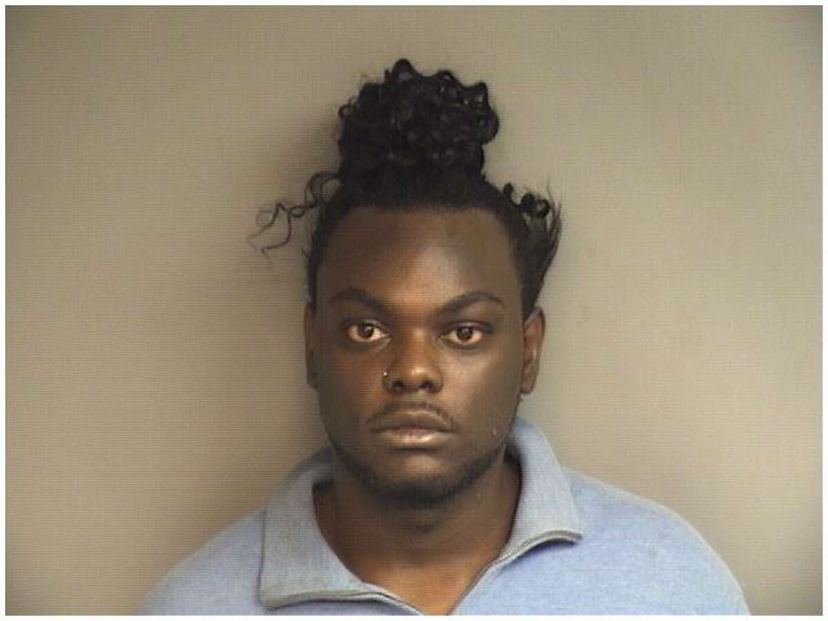 Kalifa Loukaka, 21, of Stamford was charged with shoplifting at the Forest Street CVS on Friday.