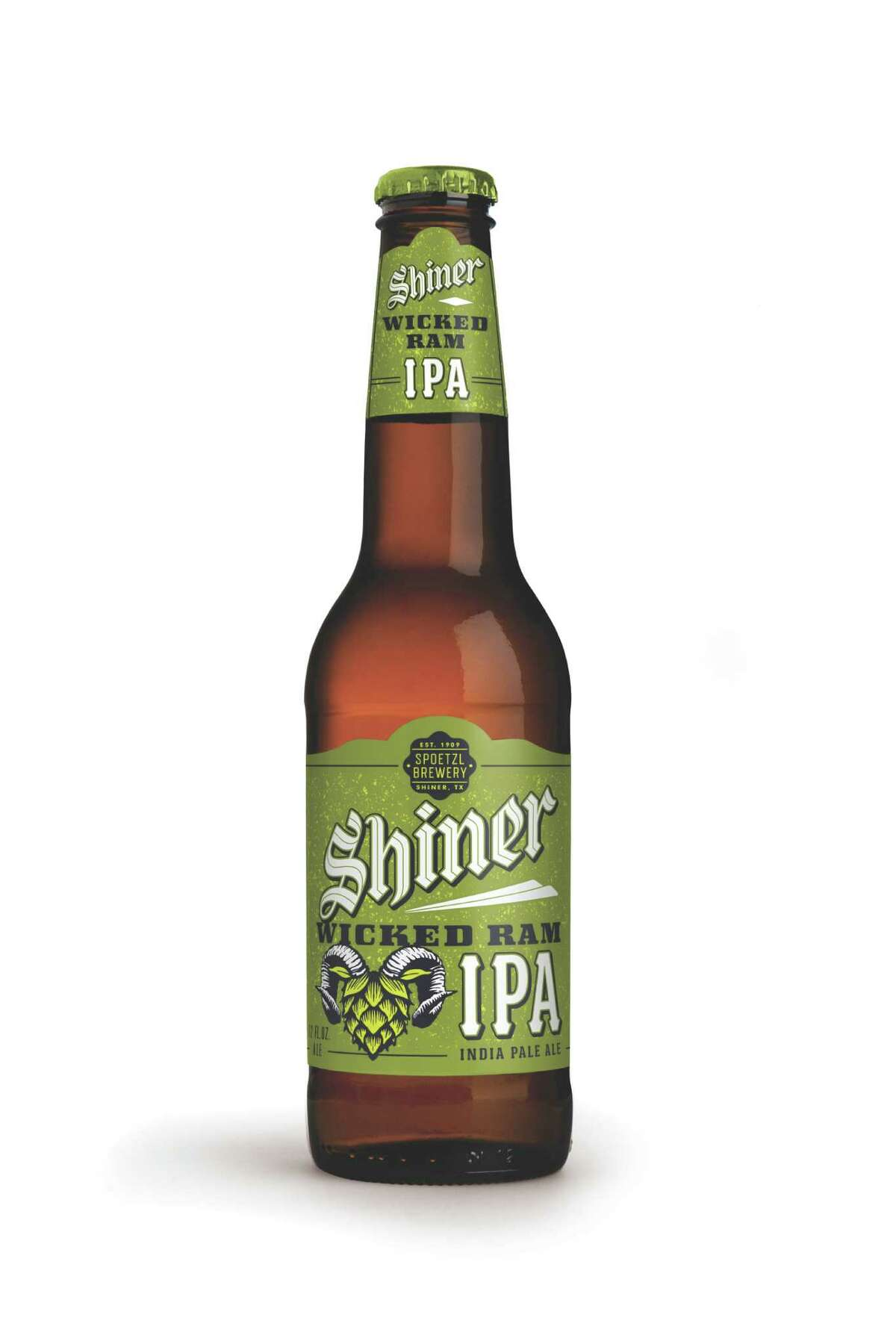 Shiner Wicked Ram IPA is the first India pale ale brewed by the Spoetzl Brewery in Shiner. Beer released October 2015.