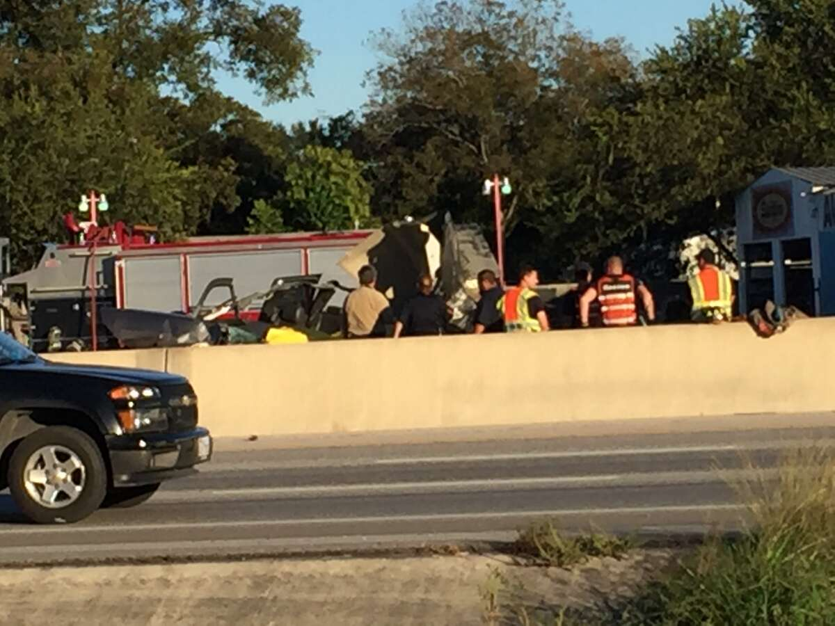 Traffic remained backed-up on Interstate 35 about 5 p.m. Monday as emergency crews work on clearing the fatal crash site. SAPD says highway will be completely open in about 45 minutes.