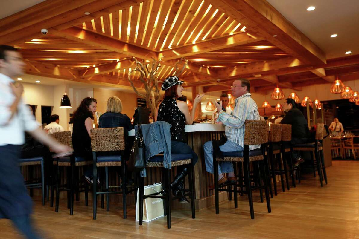 One of SaltAir Seafood Kitchen's great draws is its big, inviting bar.