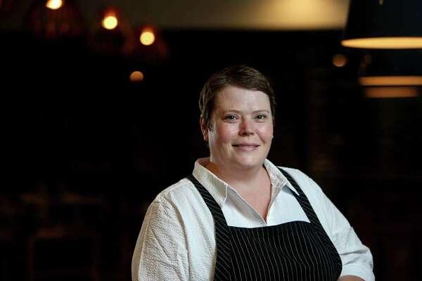 Chef Brandi Key at SaltAir Seafood Kitchen.