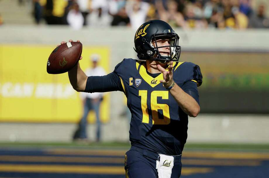 California quarterback Jared Goff during the second half of an NCAA college football game against Southern California Saturday, Oct. 31, 2015, in Berkeley, Calif. USC won the game 27-21. (AP Photo/Eric Risberg) Photo: Eric Risberg / Associated Press / AP
