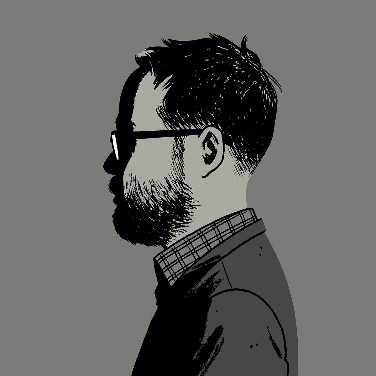 Self-portrait of Adrian Tomine