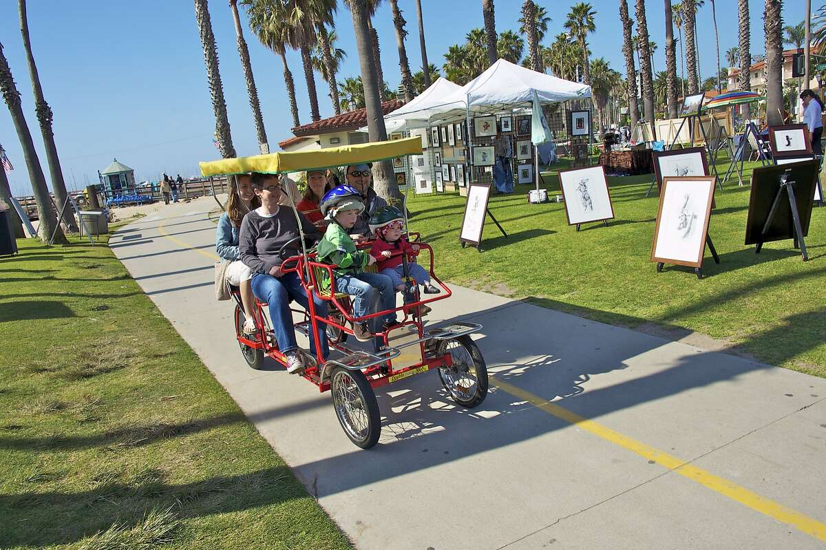 Riding a surrey is one way to see the sights of Santa Barbara without a car.