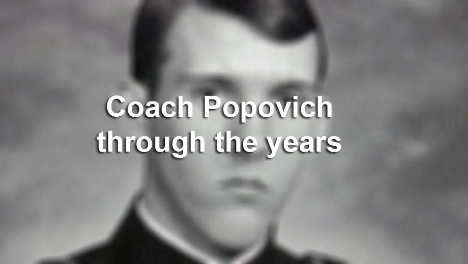 See how Spurs Coach Popovich has changed through the years.
