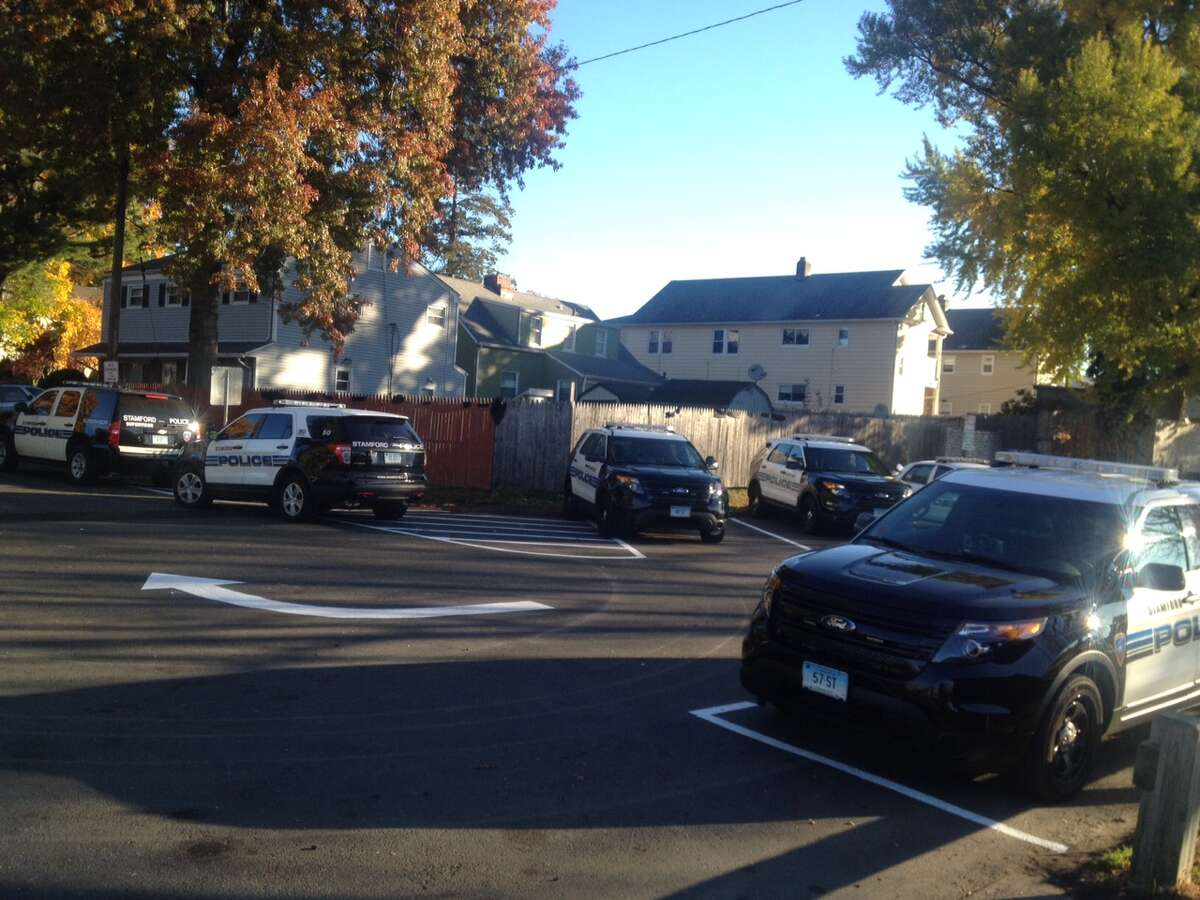 Stamford police officers worked the scene of a 2015 homicide at Lione Park on the West Side.