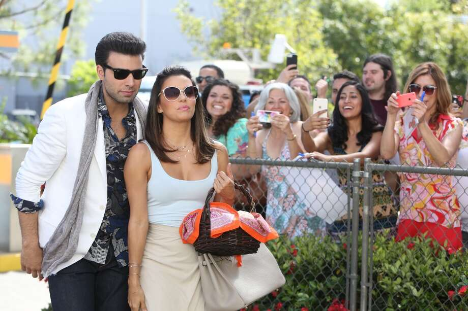 TELENOVELA -- Pilot -- Pictured: (l-r) Jencarlos Canela as Xavier Antonio Castillo, Eva Longoria as Ana Sofia Calderon -- (Photo by: Jordin Althaus/NBC) Photo: NBC, Jordin Althaus/NBC