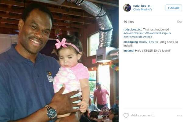 Apparently former NBA great David Robinson visits Chris Madrid's, located in midtown. Who knows, he might even hold your baby.