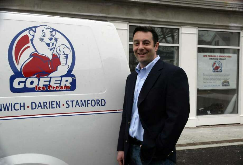 Jay Ragusa, founder of Gofer Ice Cream, is setting up a new shop at 1241 Post Rd. in Fairfield, Mon., March 22, 2010. Ragusa already has a shop on Greenwich. Photo: Phil Noel