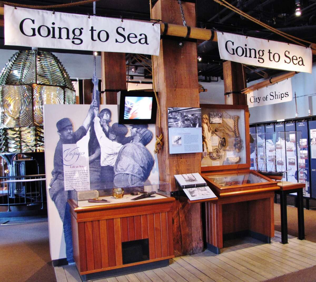 An exhibit at the San Francisco Maritime Museum represents six of the city's shoreline areas.