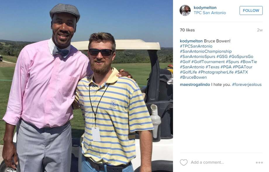 Former Spur Bruce Bowen really likes the TPC San Antonio golf club. He's been spotted here on several occasions. Photo: @kodymelton Photo: Instagram Screenshots