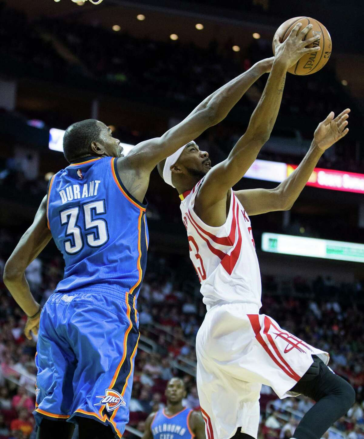 Kevin Durant, left, will be one of the free-agent prizes next summer when the salary cap balloons.