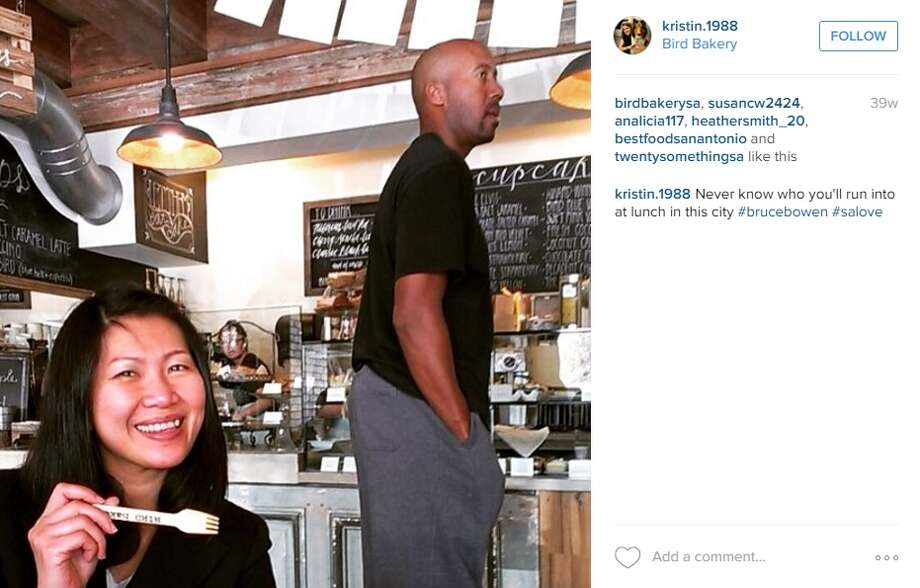 It seems like Bruce Bowen's sweet tooth leads him to the Bird Bakery in Alamo Heights on occasion. Photo: Instagram Screenshots