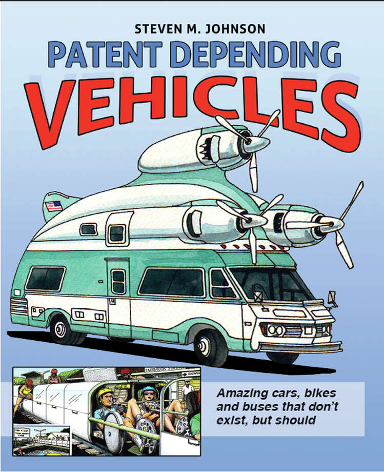 "Patent Depending: Vehicles, by Steven M. JohnsonSan Francisco-based artist and inventor Steven Johnson, 77, has been coming up with somewhat wacky automobile features since the early '60s.  A new book titled ""Patent Depending: Vehicles"" collects 40 years of his invented, self-illustrated car features. Photo: Steven M Johnson"