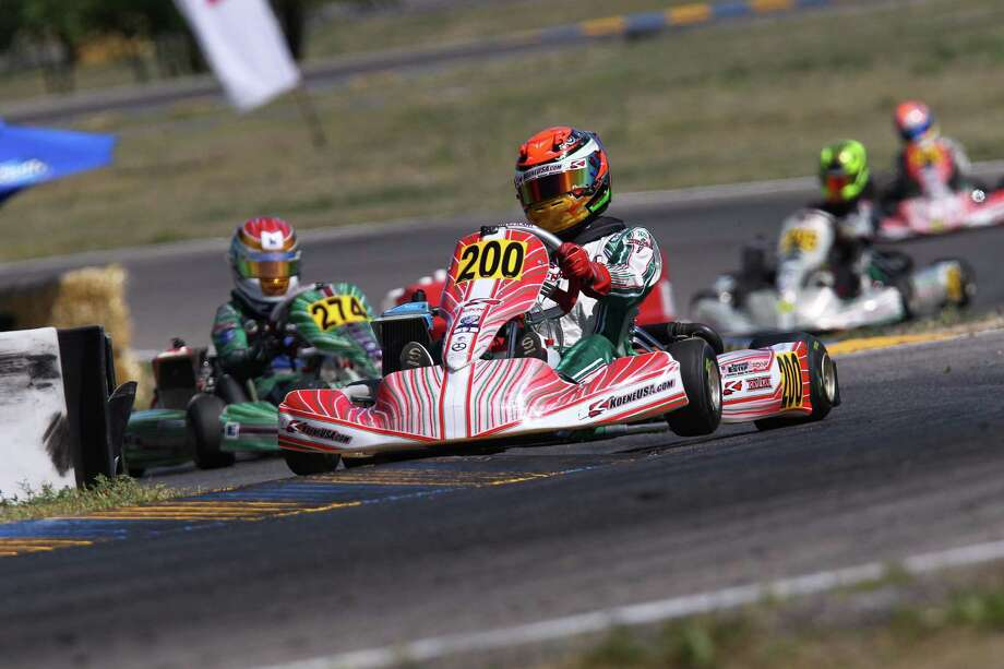 Trenton Estep, 15, of San Antonio has become the best go-kart racer in the country and one of the best go-kart racers in the world. He won the Junior Nationals in Las Vegas and now heads to the World Championship in Portugal on Nov. 7-8, 2015. Photo: Courtesy Photo