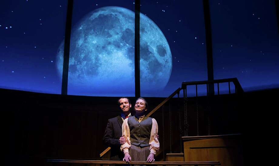 "James Monaghan and Shannon Emerick star in Main Street Theater's production of ""Silent Sky."" Photo: James Nielsen, Staff / © 2015  Houston Chronicle"