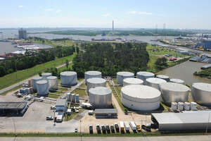 Taga Resources, a midstream company with facilities including this terminal in Channelview, plans to buy an affiliated partnership in a $6.67 billion deal. (Targa Resources photo)