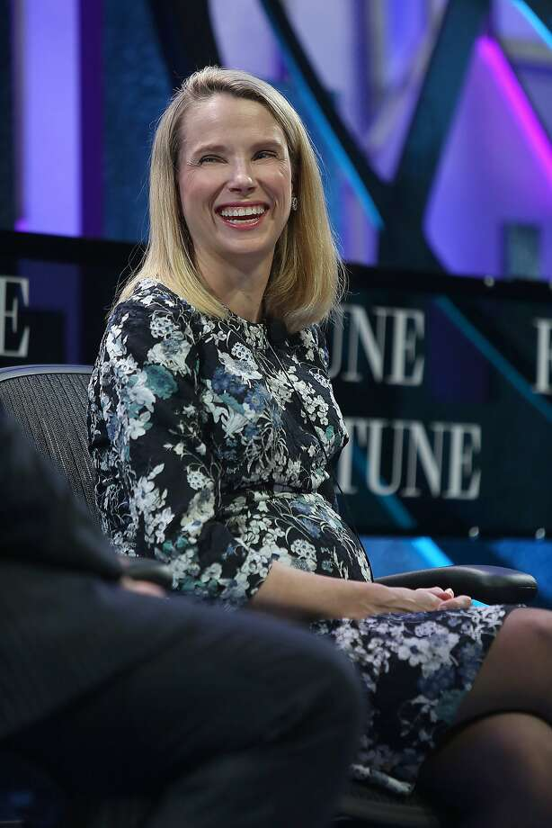 Yahoo CEO Marissa Mayer speaks at the Fortune Global Forum conference in San Francisco, Calif., on Tuesday, November 3, 2015. Photo: Liz Hafalia, The Chronicle