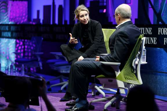 Theranos founder and CEO Elizabeth Holmes speaks at the Fortune Global Forum in San Francisco, California, on Monday, Nov. 2, 2015.