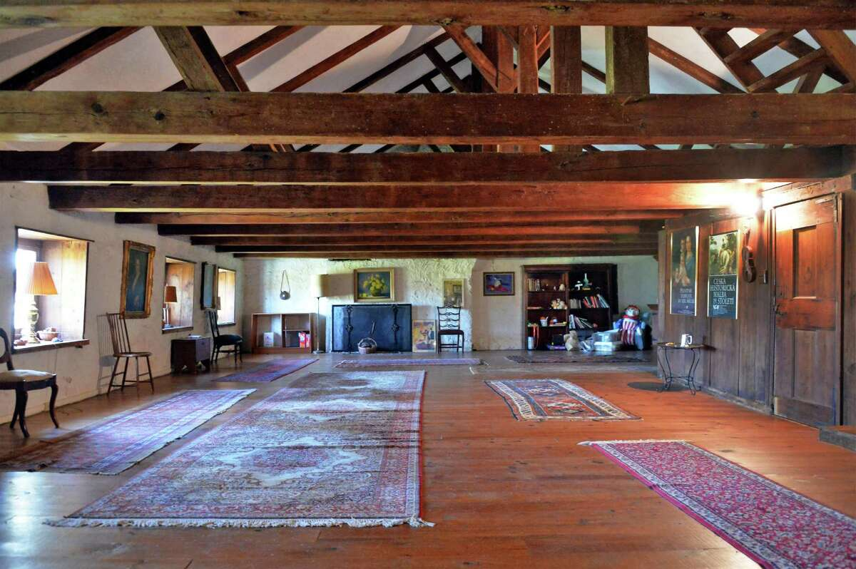The third floor barracks at the historic 1755 Gerrit Van Zandt House for sale along with 105 acres for $1.2 million Tuesday Nov. 3, 2015 in Feura Bush, NY. (John Carl D'Annibale / Times Union)