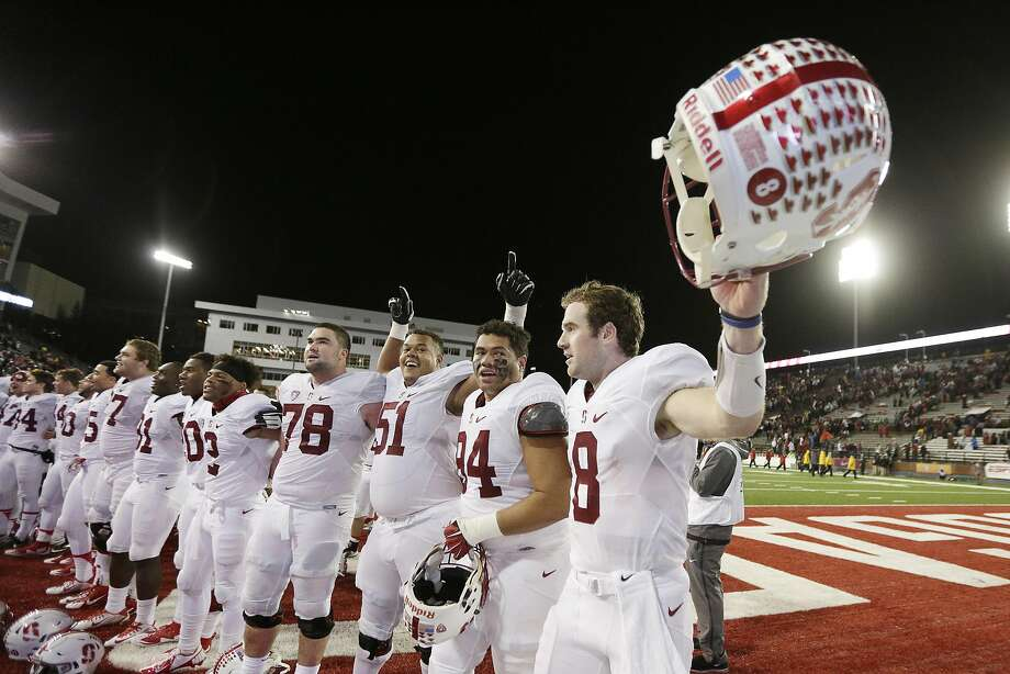 Kevin Hogan (right) and teammates are in line for the Pac-12 North title if they beat Colorado. Photo: Young Kwak, Associated Press