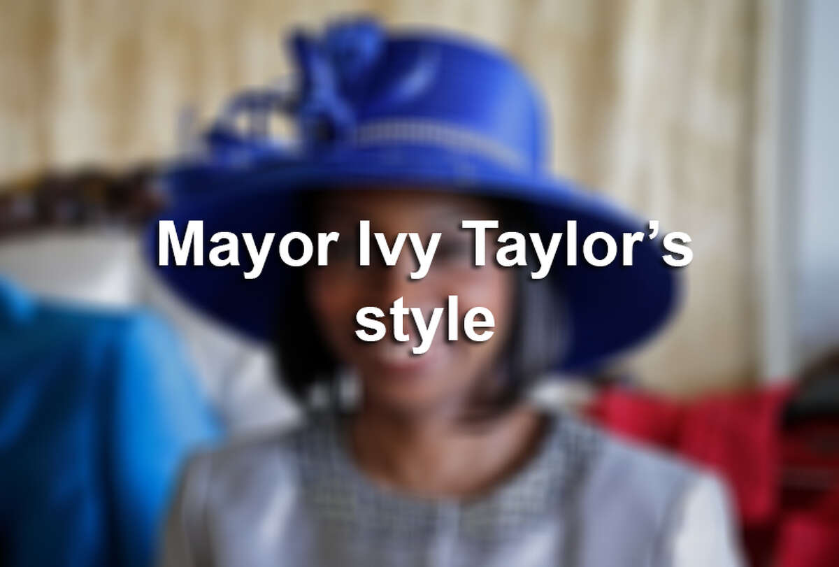 Some may be surprised that Mayor Ivy Taylor's fashionable look comes from her husband, who selects most of her outfits.