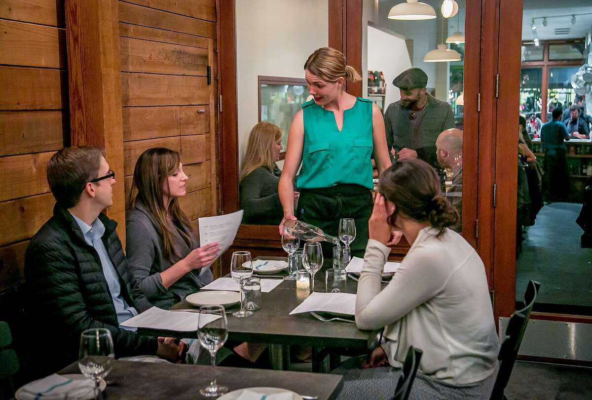 People have dinner at Contigo in San Francisco, Calif. on Tuesday, November 3rd, 2015.