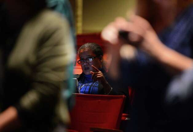 Albany School District Superintendent Marguerite Vanden Wyngaard waits for results at Albany High School Tuesday night, Nov. 3, 2015, in Albany, N.Y. City residents voted on a proposal to rebuild and expand Albany High School. (Will Waldron/Times Union) Photo: Will Waldron / 00034034A