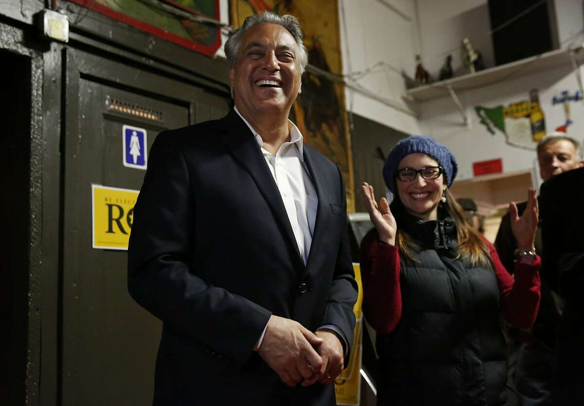 Ross Mirkarimi gives a speech at the end of the night thanking his wife and supporters during Mirkarimi's election night gathering for the position of Sheriff with his supporters Nov. 3, 2015 at Puerto Alegre restaurant in San Francisco, Calif.