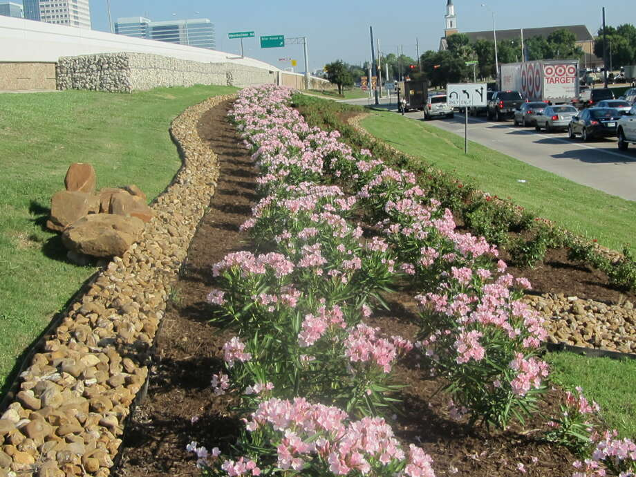 The Westchase District recently completed a three-mile stretch of new landscaping along the frontage road north from Richmond Avenue, in a bid to improve quality of life for residents, workers and those passing through the area. Photo: Courtesy