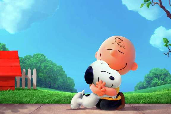 "This photo provided by Twentieth Century Fox Film Corporation shows Snoopy and Charlie Brown from Charles Schulz's timeless ""Peanuts"" comic strip in their big-screen debut in a CG-animated feature film in 3D, ""The Peanuts Movie.""  Millions of unique Peanuts characters have been created since the ""Peanutize Me"" app launched last month. Fox plans to update the site this week with Halloween-themed content to continue building buzz for the film's Nov. 6, 2015 release. (Blue Sky Animation/Twentieth Century Fox Film Corporation via AP)"