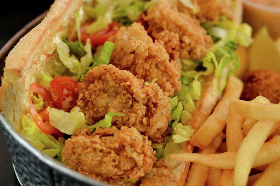 Fried oyster po'boy from Antone's Famous Po'Boys sandwich shop, which recently remodeled both its San Felipe and TC Jester stores. Photo: Antone's Famous Po'Boys