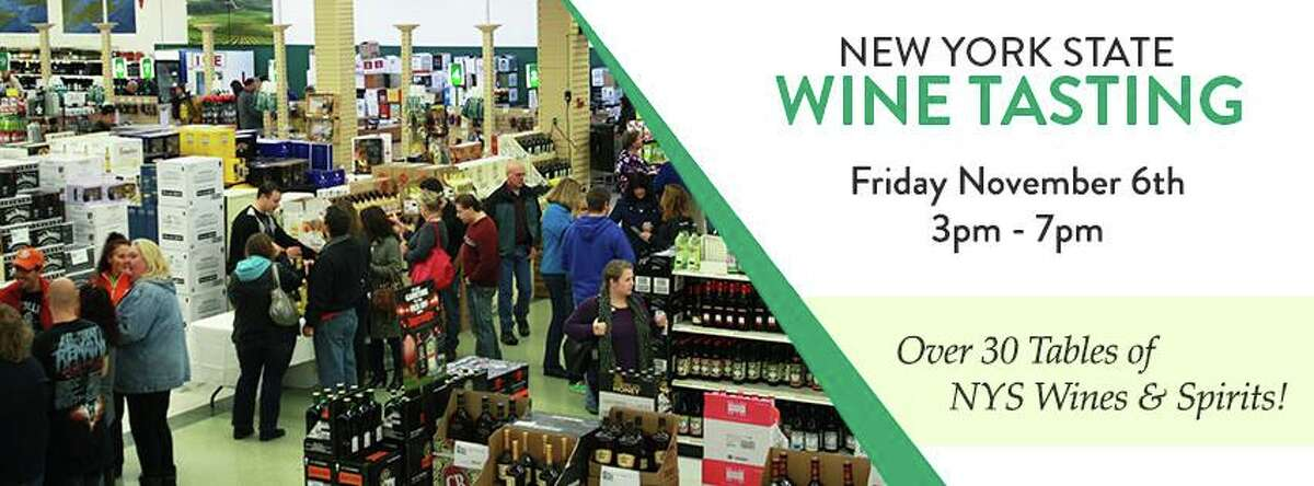 9th Annual New York State Wine Tasting . Sample some of the best New York State has to offer.When: Friday, Nov. 6, 3 - 7 p.m. Where: Exit 9 Wine & Liquor Warehouse, 9 Halfmoon Crossing Blvd., Clifton Park.For more info, visit the Facebook event page.