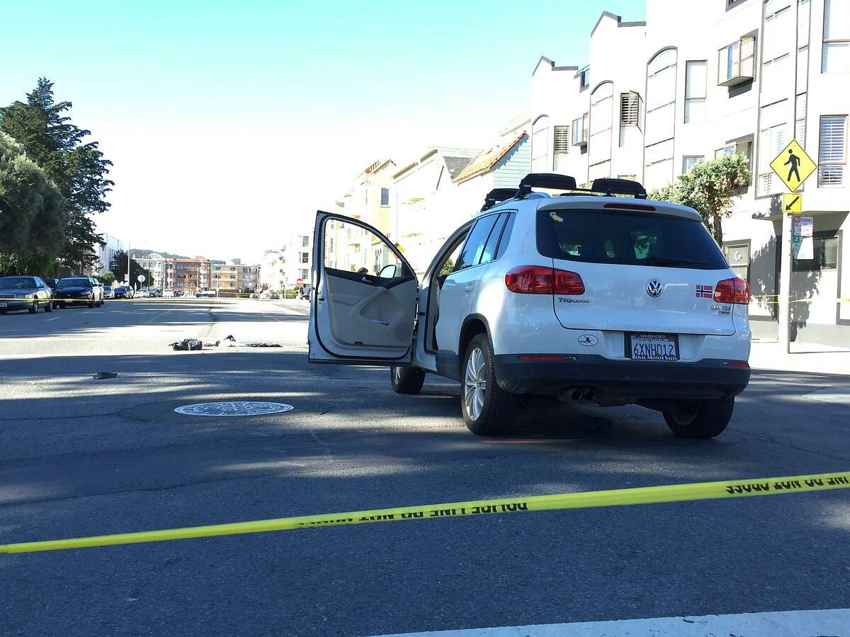 Two 12-year-old boys suffered serious injuries after being struck by a car at Bay and Buchanan streets in San Francisco's Marina district Wednesday morning. The driver of a Volkswagen SUV that struck the boys stayed at the scene and was cooperating with police.