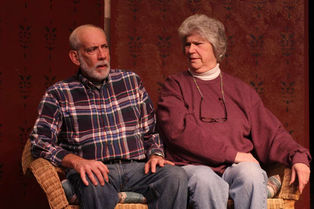 """Roy Sr. (Ken Goldfarb) and Em (Margaret King) in """"Looking For Normal"""" at Albany Civic Theater. credit: Tom Killips"""