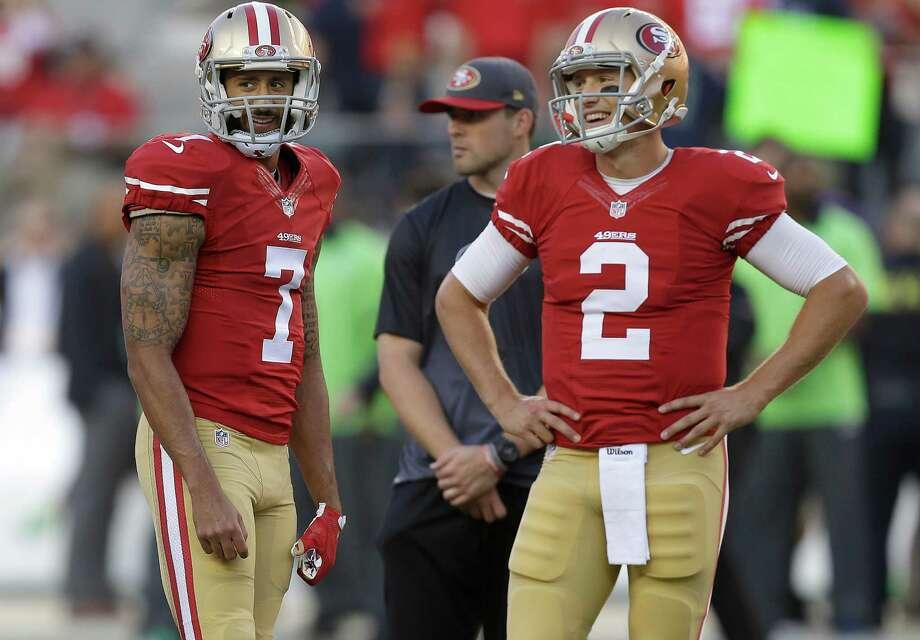 Colin Kaepernick and Blaine Gabbert. Photo: Ben Margot / Associated Press / AP