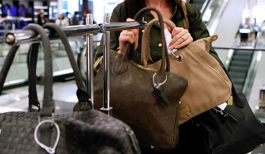 Bloomingdale's high-end handbags were the target of a San Francisco shoplifter who pulled a hatchet on a security guard. Photo: Paul Chinn, The Chronicle / Paul Chinn / ONLINE_YES