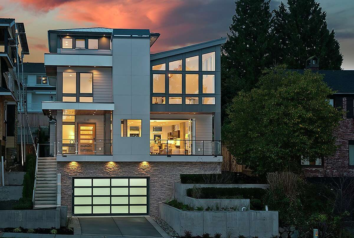 This home,5148 N.E. 41st St., is listed for $2.898 million. The four bedroom, three bathroom home in the Laurelhurst neighborhood boasts an open floor plan, a huge master suite and a loft featuring views, a large roof deck and a wet bar. You can view the full listing here.