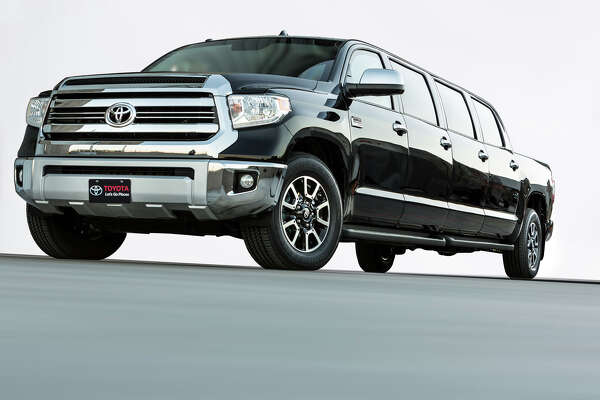 """The Toyota """"Tundrasine"""" Tundra/Limousine concept truck was unveiled at the 2015 SEMA auto show."""