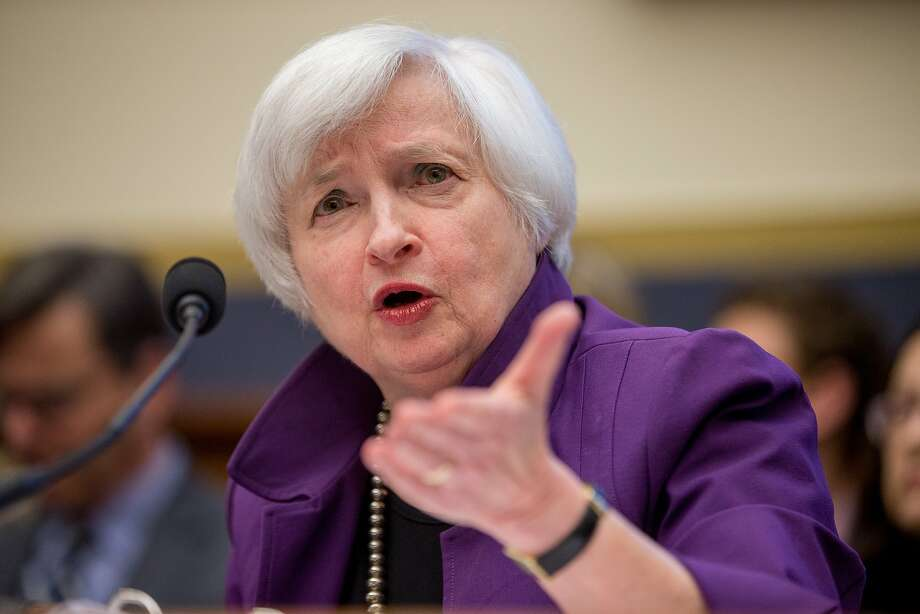 Fed Chair woman Janet Yellen testifies on Capitol Hill. Photo: Andrew Harnik, Associated Press