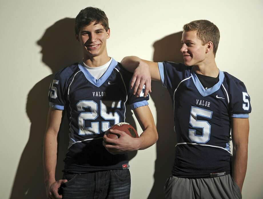Max McCaffrey (left) and Christian McCaffrey starred at Valor Christian High School in Highlands Ranch, Colo. Bothwere named to the All-Colorado Team in 2011, when Max was a senior and Christian a sophomore. Photo: Cyrus McCrimmon, Courtesy Denver Post