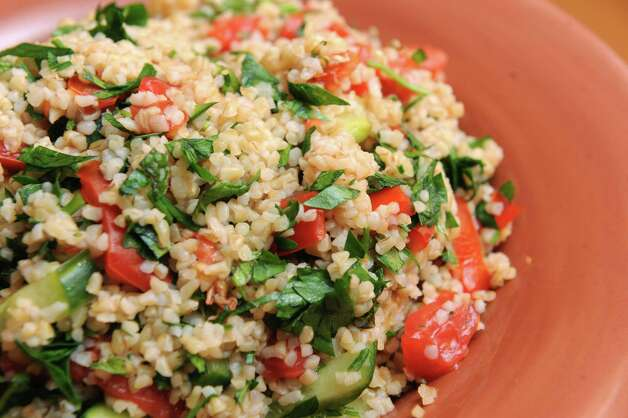 Tabouli salad on Tuesday Oct. 27, 2015 in Delmar, N.Y. (Michael P. Farrell/Times Union) Photo: Michael P. Farrell / 10033816A