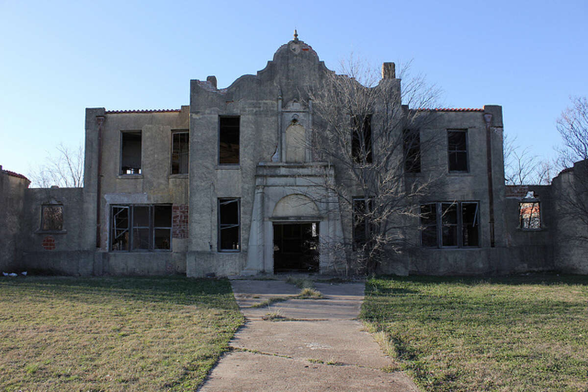 This photo by Flickr user Nicolas Henderson shows an abandoned school in Mosheim, Texas.