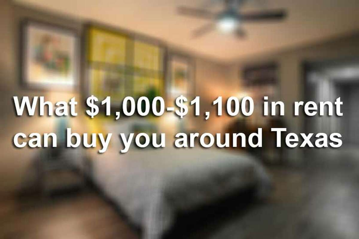 Here is how $1,000-$1,100 apartments look like around the Lone Star State.